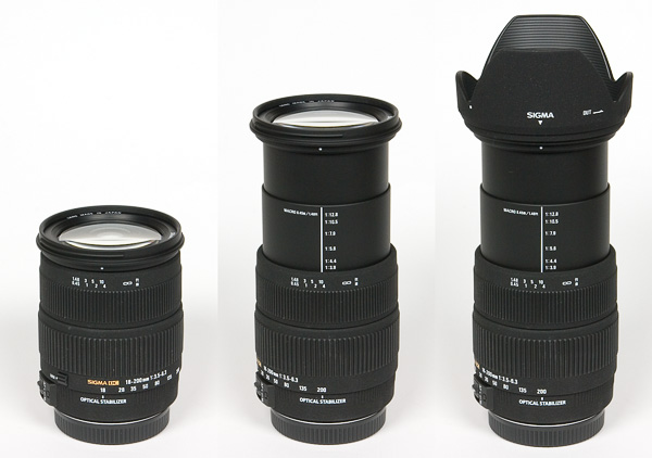 Sigma 18-200mm f/3.5-6.3 DC OS HSM : Specifications and Opinions ...